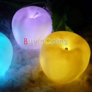 Color Change Apple Shaped LED Xmas Mood lamp Night Light