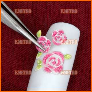 25pcs 3d Nail Art Design Flower Stickers Sheets Decals