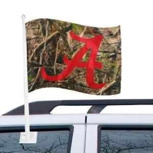 Alabama Crimson Tide Camo Car Flag Automotive