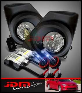 2011 2012 Corolla JDM Clear Fog Driving Lights Lamps/10000K Blue HID