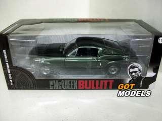 FORD MUSTANG 1968 BULLITT 1/18 SCALE CAR GREENLIGHT IN GREEN STEVE