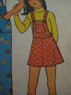 VTG Simplicity 7032 Girls OVERALLS DRESS Sewing Pattern