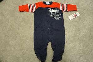NFL Newborn/Baby 3 6M NEW ENGLAND PATRIOTS Full Body Suit Sleep & Play