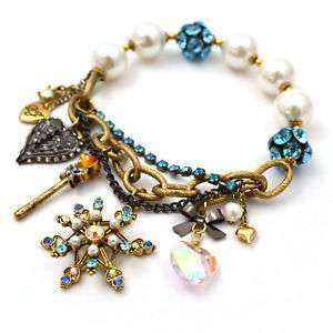 Original Betsey Johnson Snowflake Charm Bracelet JB71