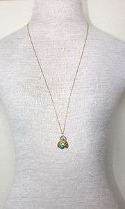 Vintage Cute Green Bug Pendant Chain Necklace