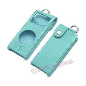 Light Blue Kroo Forza Leather Case for Apple iPod nano