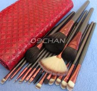 18pc Pro Makeup Make Up Eye Shadow Brush Set Kit + Case