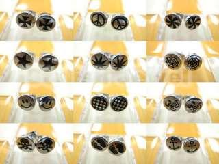 Hot New Style 2012 Steel Fake Ear Plugs Earrings Stud   Select Pattern