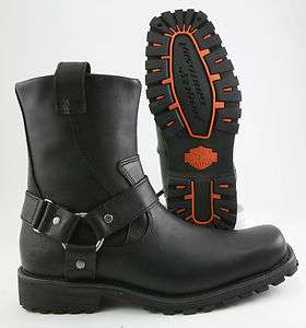 HARLEY DAVIDSON CHARLESTON MENS MED WIDTH ZIPPER RIDING BOOT