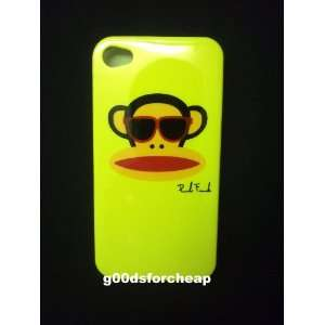 Iphone 4S 4 Monkey Hard TPU Case YELLOW Color USA Seller
