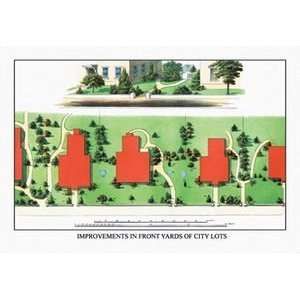 Improvements in Front Yards of City Lots   Paper Poster