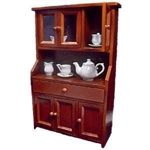 Antique Reproduction Country Hutch Furniture Scaled to Fit