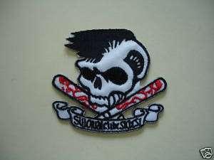 Iron On Patch Biker Emo Rockabilly Rocker Punk SKULL