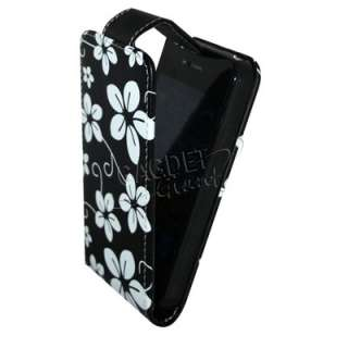 FLORAL FLOWER LEATHER FLIP CASE COVER POUCH FOR APPLE IPHONE 4
