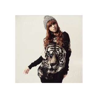 Newhai uk Women Ladies Long Tank Tops T shirt Tiger 163