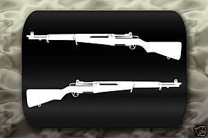 M1 Garand Rifle Gun decal 2 Stickers Allied