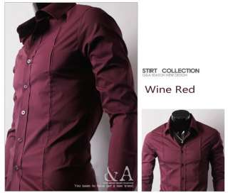 Mens Casual Slim Luxury Stylish Dress Shirts 4Color6049