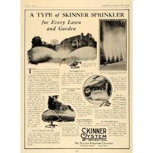 1926 Ad Skinner System Sprinkler Lawn Garden Equipment