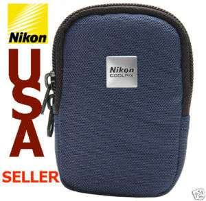 NIKON COOLPIX L & S Series Digital Camera Case Bag Blue