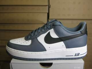 NIKE MENS AIR FORCE 1 07 BLUE DUSK BLACK WHITE