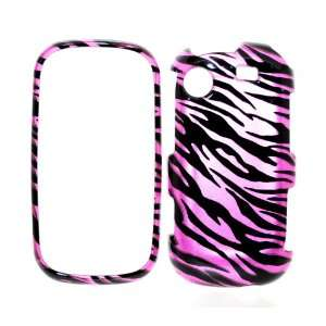 Hot Pink Zebra Strips Snap on Protector Case for Samsung