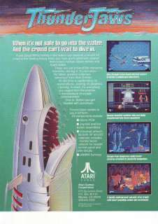 ATARI THUNDER JAWS VIDEO ARCADE GAME FLYER BROCHURE