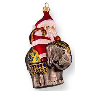 Glass Christmas Ornament, Maharaja Santa, Exclusive Mold