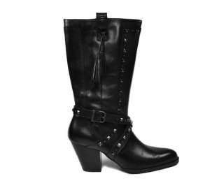 HARLEY DAVIDSON Nelle Fashion Dress Women Size Black Leather BOOTS