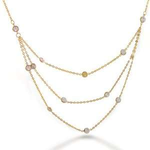14K Yellow and White Gold Necklace by The Inch Multi