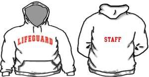 Lifeguard Hoodie Custom Name & # Life Guard Hooded Sweatshirt Beach