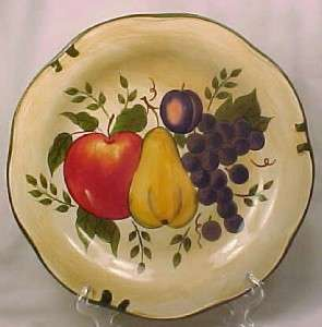 GRANADA DINNER PLATE Apple Pear Grapes HOME TRENDS