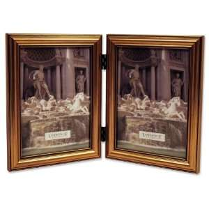 Lawrence Frames Antique Gold Wood Double 5x7 Picture Frame