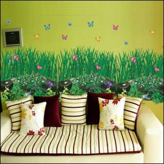 GREEN GARDEN BUTTERFLY WALL WINDOW DECOR STICKER CP048
