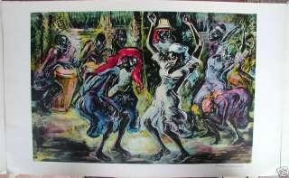 MARION GREENWOOD 1950s Haitian Dancers AAA print
