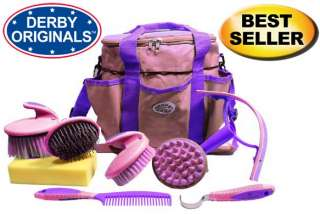 Derby Comfort Premium Horse Grooming Kit 9 Items Set Blue  Super Deal