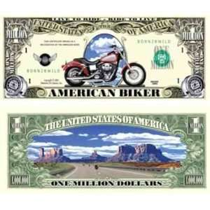 Motorcycle Million Dollar Bills Case Pack 100 Toys & Games