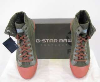 Star Shoes Ithica Hi Combat Canvas Designer Green Men New