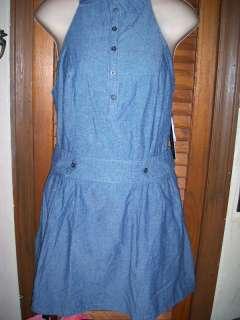 Hope& honey~NWTs sz M Denim Light blue Halter dress