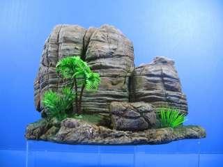 Mountain View Aquarium Ornament coco tree 11.6L   Rock Cave stone