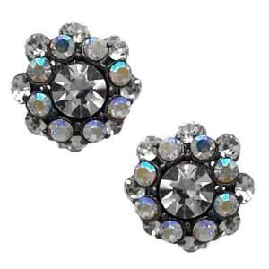 Naive Silver AB Crystal Clip On Earrings 2 Jewelry