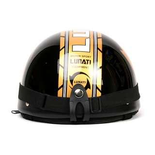 Motorcycle Scooter Half Helmet Open Face Lunati Black