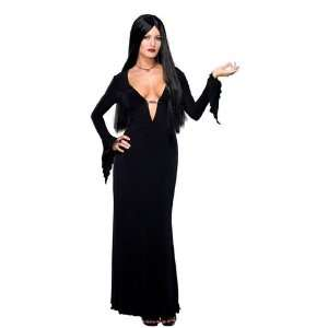 FANCY DRESS = Morticia Addams Adult Costume Size SMALL=