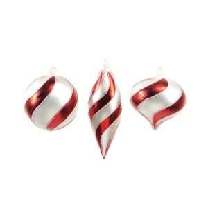 12 Candy Crush Swirled Glass Ball, Onion & Teardrop