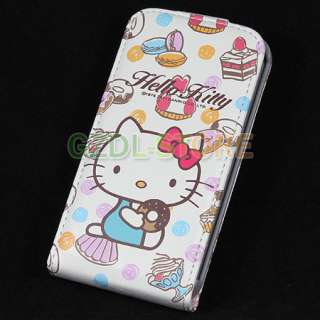 Hello Kitty Flip Leather Case Cover For iPhone 4 4G C5