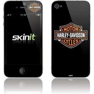 Harley Davidson Standard Logo on Black Vinyl Skin for Apple iPhone