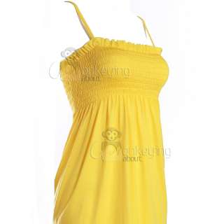 Ladies Gypsy Top Long Dress Tunic Bandeau Boho Shirt