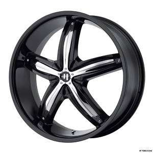 18 Black Wheels Rim HHR G6 Cobalt SS Impala Grand Prix