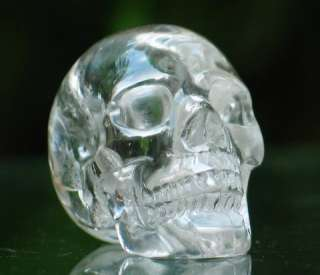 Quartz Rock Crystal Carved Crystal Skull, Realistic, Crystal Healing