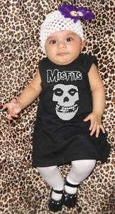 Misfits Baby Girl T Shirt Black Dress Creeper Romper Danzig One Piece