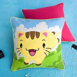Onitiva   [Kitty Meow] Embroidered Applique Pillow Cushion / Floor